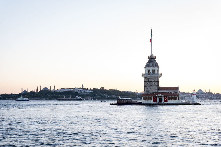 Maiden's Tower and historical peninsula in Istanbul Architecture EyeEm EyeEm Best Shots EyeEm Nature Lover EyeEm Selects EyeEmNewHere Istanbul Maiden Tower Nature Ottoman Ottoman Architecture Travel Turkey Boat Bosphorus Environment History Island Maidens Tower Maidenstower Maidentower Ottomanpalace Sea Sunset