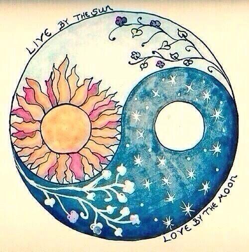 Live By The Sun Love By The Moon Balance Yin Yang