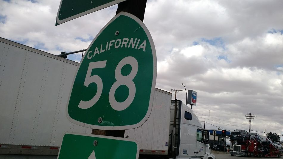 58 with trailer. Road Sign City Guidance Speed Limit Sign Sky Cloud - Sky Information California Dreamin