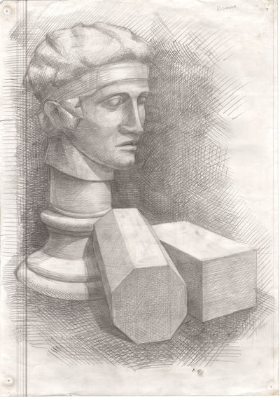 Stady Black & White Sketch HEAD Studentwork Art Stady Craftpaper Gypsum Head Indoors  Handmade ArtWork Antique Philosopher Sketching Exebithion Pencil Art Ink Sketch Philosopher Blackandwhite Gypsum Voltaire Architecture Antique