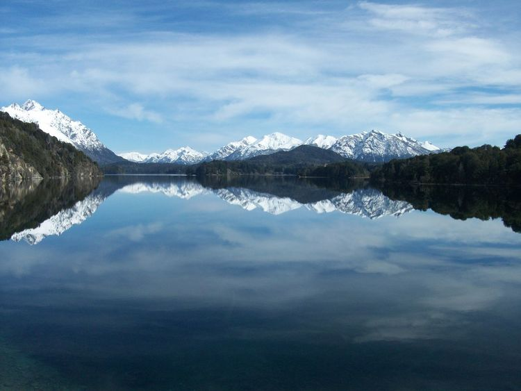 Bariloche, Argentina Beauty In Nature Cold Temperature Lake Mountain Nature No People Non-urban Scene Reflection Scenics Snow Tranquil Scene Tranquility Winter