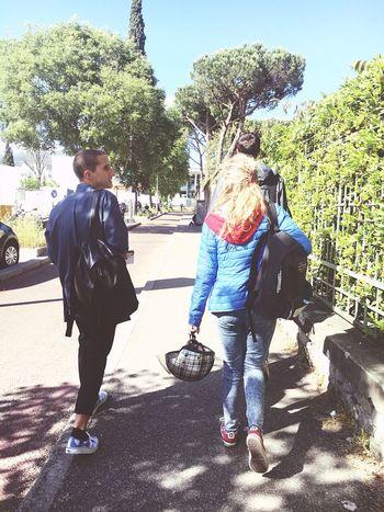 University life in Florence. Florence University Biology Student Campus