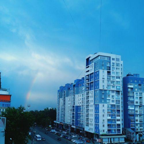Eyeemphoto Blue Sky Rainbow