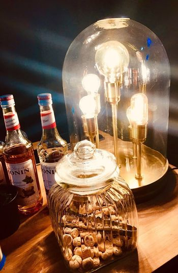 Lights on a sunday Industrial Chic Interieur Lamp Interieurdesign Interieurstyling Special Lamp Light Glass - Material Table Transparent Lighting Equipment Illuminated Indoors  Light Bulb
