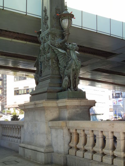Giraffe Having A Wing Bridge Tokyo Japan