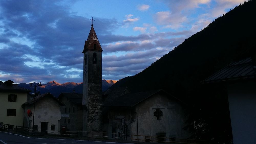 Campanile in Val di Pejo HUAWEI Photo Award: After Dark Clock Clock Face Clock Tower City Place Of Worship Cityscape Religion History Sky Architecture