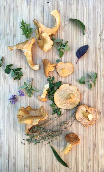 Edible Mushroom View From Above Chanterelle Mushrooms Organic Autumn Foodphotography Nature Is Art