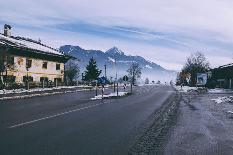 Mountain view Alps Bavaria Gasthaus Mountain Snow Street Streetphotography Waling Around It's Cold Outside