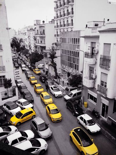 Black And White Yellow Taxi Streetphoto_bw