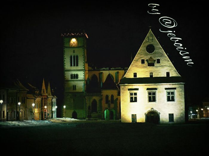 Architecture Night Streetphotography Church Landscape Exploring Historical Building Taking Photos Gothic Building Photo Night Lights Photography My Town Bardejov