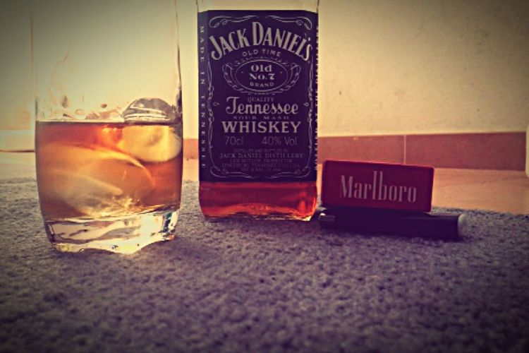 Taking Photos Enjoying Life Photography IPhone Jackdaniels Marlboro Tobacco Whiskey Lighter Ice