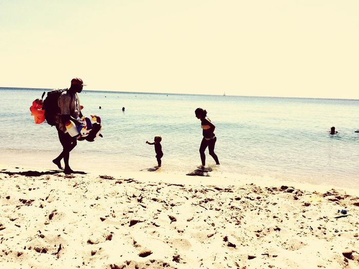 Sand Nature Horizon Over Water Horizon Child Real People