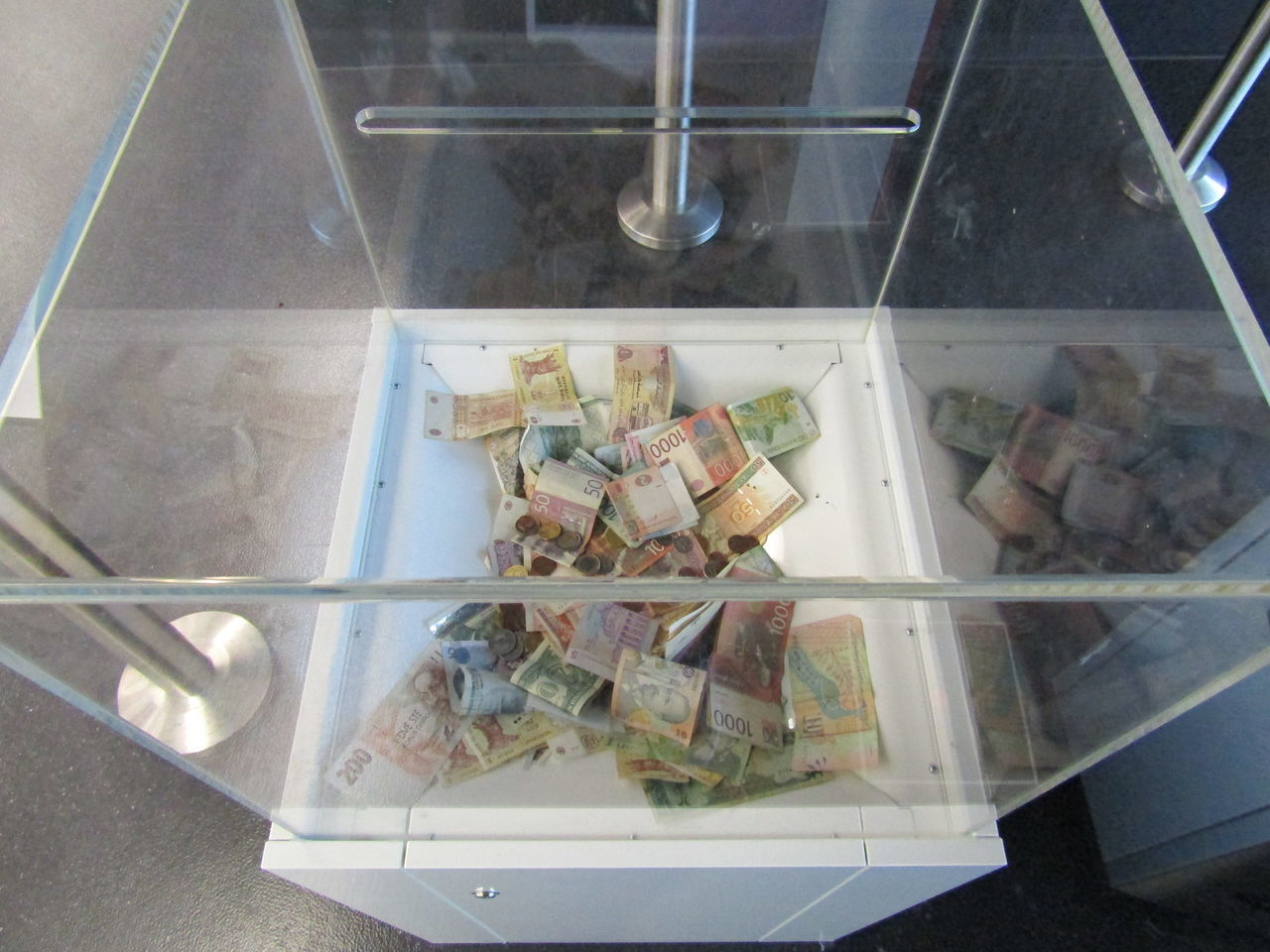 high angle view, paper currency, indoors, no people, currency, food, day, close-up