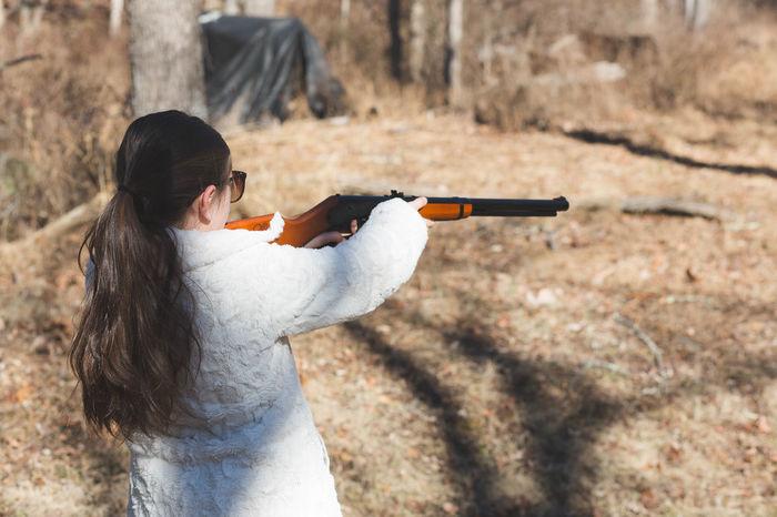 Gun Range Aim Childhood Coat Girl Guns Outdoors Shooting Sport