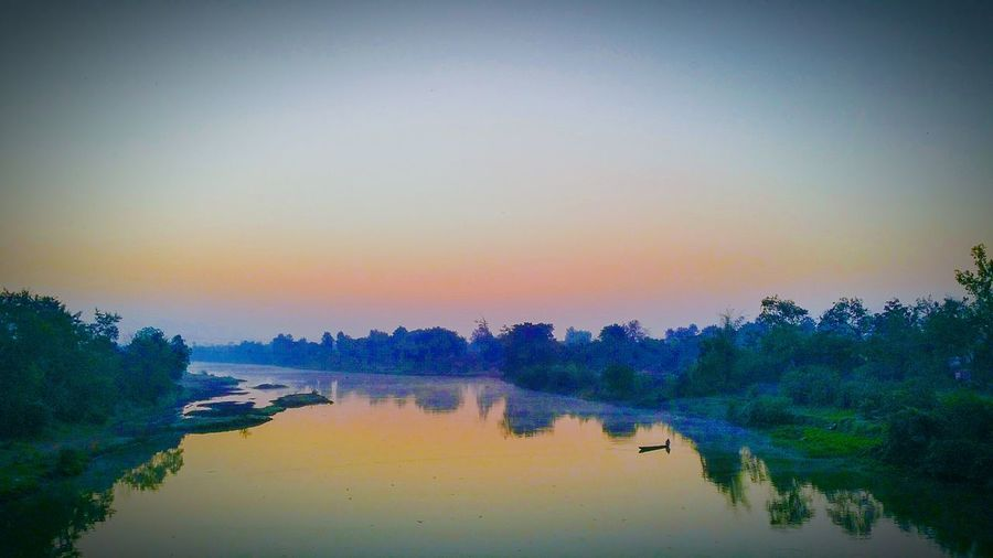 Sunrise_Collection Reflectictions Sun Rising Sun Rise Ower River Sunset Water Travel Nature Multi Colored Beauty In Nature Outdoors Clear Sky Bridge View Arpa River River View From Bridge Reflection Lake Tranquility Beauty In Nature Note4clicks Note4photography Traveldiaries✈🌍 EyeEm Best Shots Note4photagraphy Beauty Of Nature