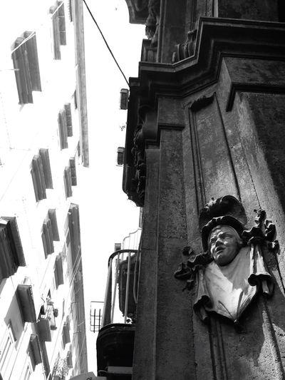 Mascheroni ad altorilievo Palazzo Carafa Della Spina Naples Outdoors Focus On Foreground Selective Focus Historic Travel Destinations Architecture Old Town