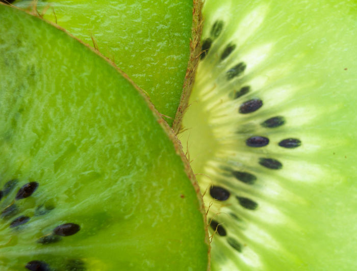 Full Frame Shot Of Kiwi Slice