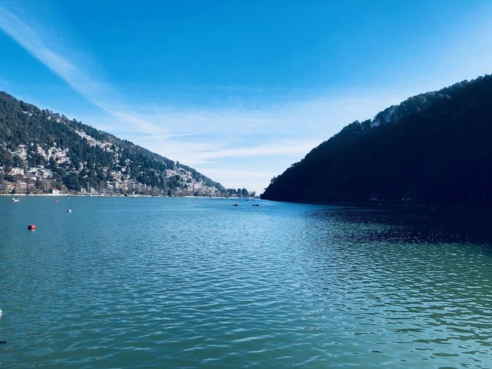 Nainital lake Water Scenics - Nature Beauty In Nature Mountain Sky Waterfront Tranquil Scene Tranquility Nature Blue Day No People Sea Non-urban Scene Outdoors View Into Land Mountain Range Idyllic