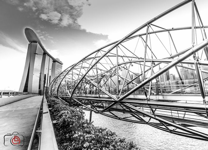 Helix bridge at