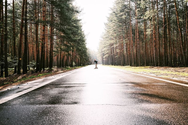 Longboard Woods Boy Road Morning