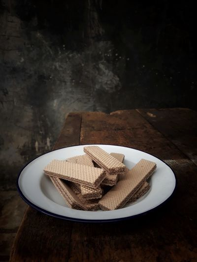 stilllife with wafer Waferchocolate StillLifePhotography Food And Drink Table Plate Kitchen Utensil Freshness Sweet Food Indoors  Ready-to-eat Still Life