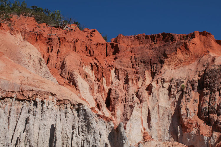 Fairy Stream is between special red rock wall and green land under blue sky in Mui Ne , Vietnam Rock Formation Rock Rock - Object Physical Geography Geology Beauty In Nature Scenics - Nature Mountain Solid Non-urban Scene Nature Travel Destinations Tranquil Scene Sky Travel Tranquility Mountain Range Clear Sky No People Eroded Formation Arid Climate Climate Outdoors Travel Vietnam Stream Sand Tourism Nature Landscape Rock ASIA Canyon Muine Scenery Orange Adventure Tropical Tropical Climate Sandstone Sandstone Cliffs Nature Landscape Tourist Adventure Travel Mui Ne Mui Ne, Vietnam Vietnam Travel Canyon Landscape Rock Wall