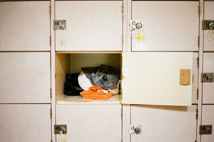 Film Japan Japanese Culture Locker No Filter Clothes Day Door Film Photography Indoors  Locker Room Masarumiura No People Public Bath Sento 銭湯