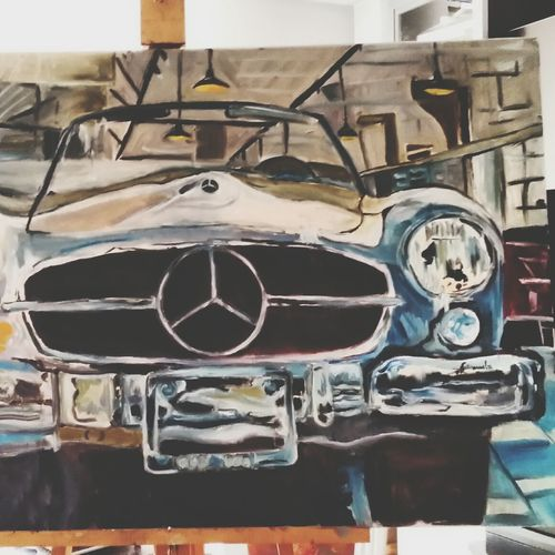 Car Mercedes Painting oil painting more on my website ardeleanemanuela.net