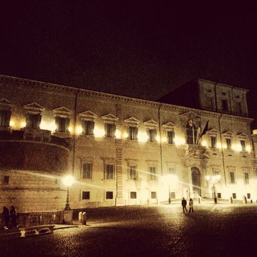 Palazzo Del Quirinale in Rome, Italy Cities At Night