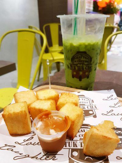 Thai Milktea Thaimilkgreentea Toast🍞