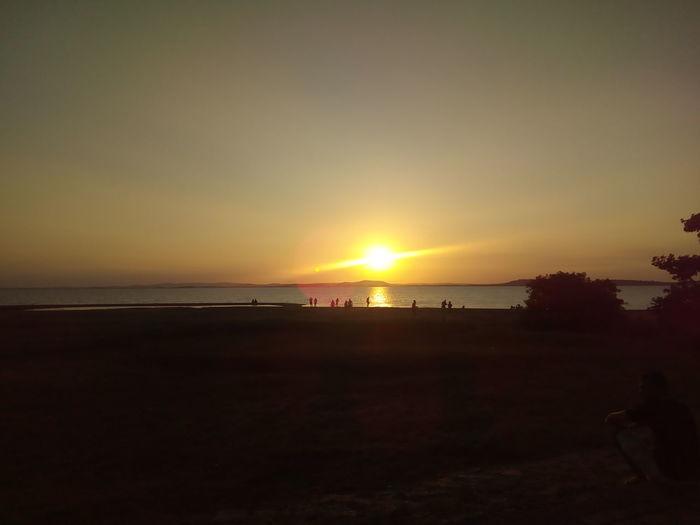 Sunset Sea Beach Horizon Over Water Scenics Sun Beauty In Nature