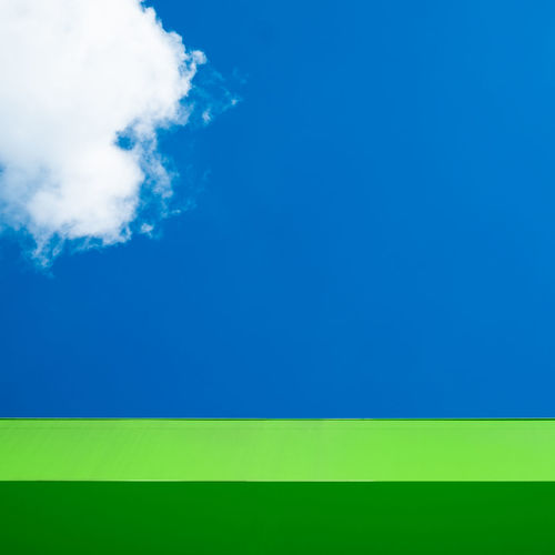 Cloudminimal Minimalism Minimalobsession Minimalist Photography  Ralfpollack_fotografie Cloud Sky Blue Copy Space No People Outdoors Day Cloud - Sky Green Color Multi Colored Backgrounds Environment Vibrant Color Abstract Creativity Abstract Backgrounds
