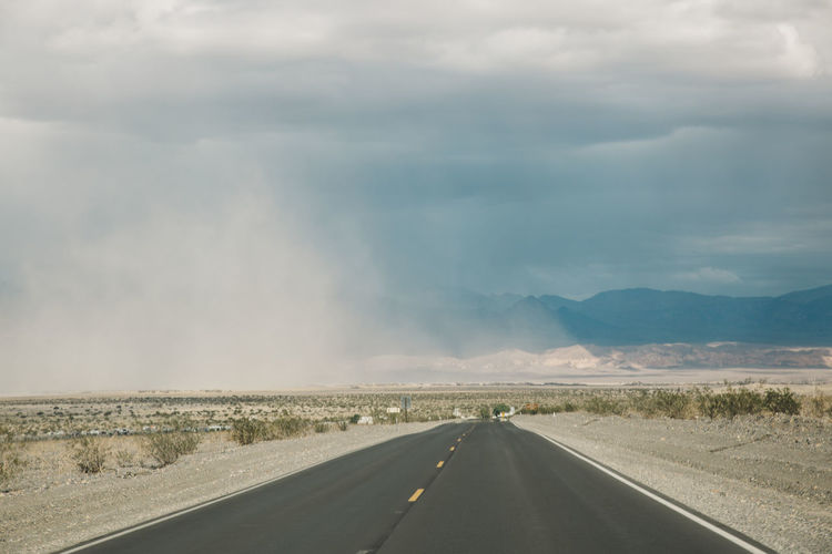 Road against sky