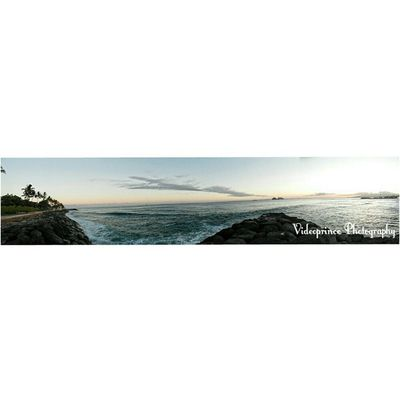 Panoramic view Photography By: @Videoprince Hawaii Oahu Luckywelivehi HiLife 808  Alohastate Venturehawaii Ocean Sand Rock Clearwater Beach Islandlife Photography Photographer Cameralife Videoprince Islandlife Sunset Cameraready