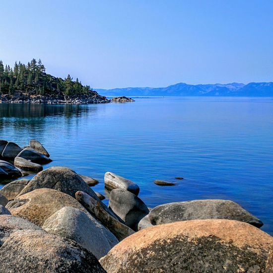 Calm tranquil water Lake Tahoe Enjoying The Sun Escaping Getting In Touch Take A Break Nice Views Walking Around Beautiful Day