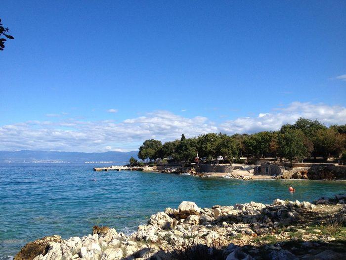 Sky Outdoors Day No People Horizontal Shot Horizon View Island Of Krk Sea Water Sea Life Nature Beauty In Nature Mediterranean Sea Croatia ❤ Go Higher My Best Travel Photo