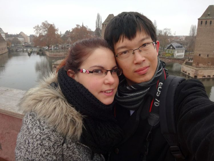 Strasbourg♥ Strasburg Strasbourg Visiting Strasbourg :) Taking Photos Cute Couple Euroasian Couples Shoot Happy Couple Coupleselfie