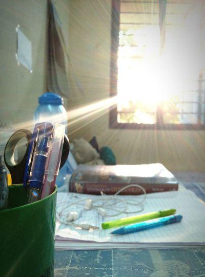 Study Time Morning Enjoying Life Pen Stand