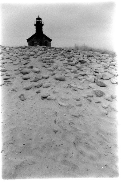 Block Island Lighthouse Film Lighthouse Beach Black And White Island Land No People Outdoors Sand Tranquility