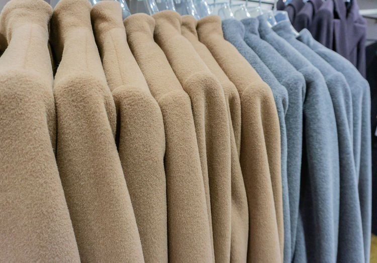 Close-Up Of Warm Clothing In Store