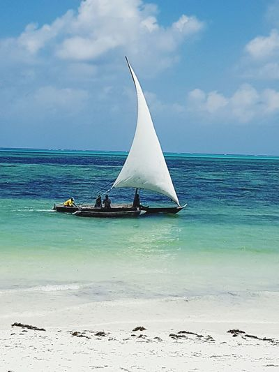 Sailing Sea Sailboat Jambiani Beach Vacation Zanzibar Summer Holidays Enjoying Life Beautiful Day Vacations Summer Beautiful Place Summerfeeling Sand Sky Sailing Ship Beach Outdoors Beautiful