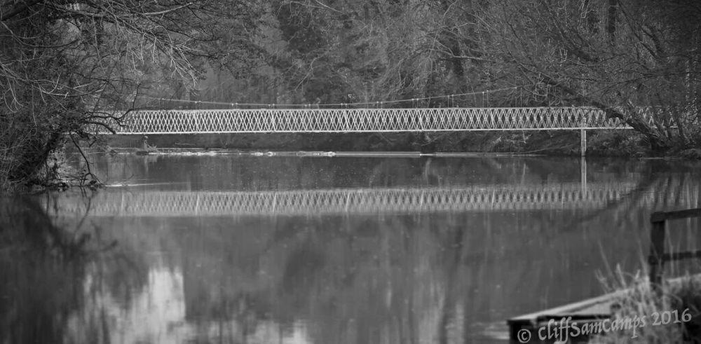 Over the Stour Bridges Bridge Rivers River Blackandwhite Dorset Wimbourne Minster Water Reflections