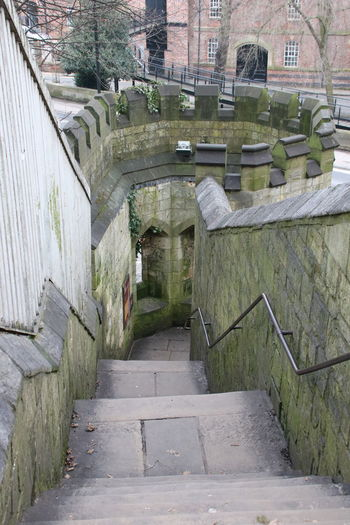 City Walk Steps Stone Steps York Walls Architecture Building Exterior Built Structure City Walkway Day Handrail  Historic Nature No People Outdoors Stone Steps Corner Detail Tree