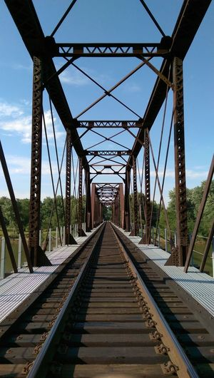 The Purist Bridgesaroundtheworld Architectural Detail Leavin' On A Southern Train Wrong Side Of The Tracks Blue Sky Trees And Clouds Eye Am Nature Vanishing Point The Places I've Been And The Things I've Seen