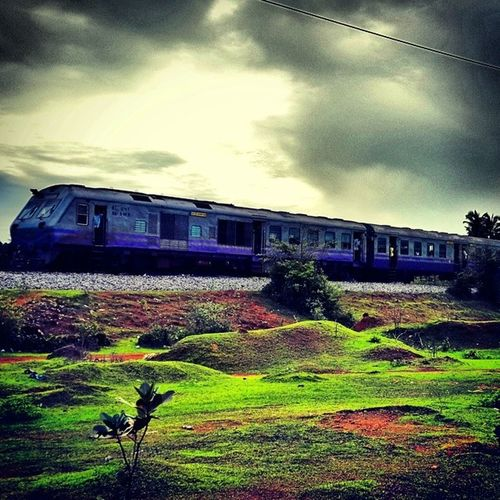 Weekend Awesome Goodevening  Cloudsporn Clouds_lover Clouds Random Train Railway Rainy Monsoon Greeny  Mobilephotography Naturelover Instanaturelover Insta_creativity Fantastic Landscape Landscape_lovers SamsungS4 Samsung_galaxy Perfect Clicks