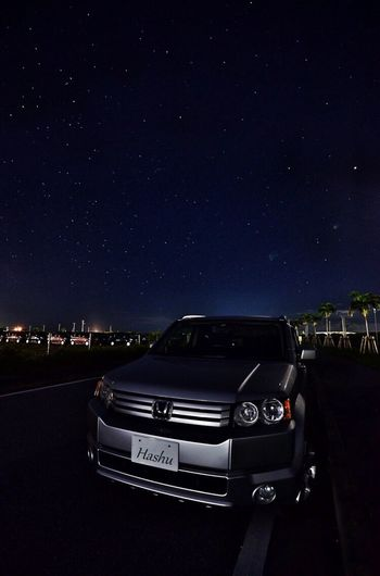Okinawa Photos Sky OKINAWA, JAPAN Skylovers Nikon Nikon D600 D600 Night Lights Car Honda Honda Crossroad Night No People