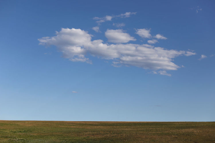 Horizon over land and blue sky La Perouse Sky Cloud - Sky Landscape Environment Beauty In Nature Horizon Over Land Horizon Scenics - Nature Tranquil Scene Tranquility Blue Land Nature Field Day Grass No People Non-urban Scene Plant Urban Skyline Outdoors Prairie