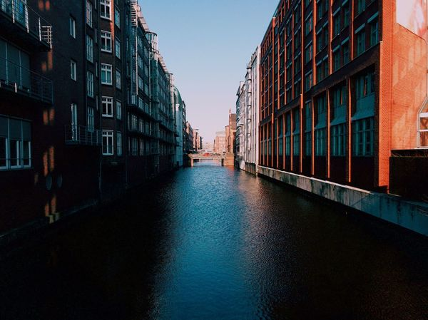 Architecture Building Exterior Built Structure Canal Day City Clear Sky Travel Destinations Water No People Outdoors