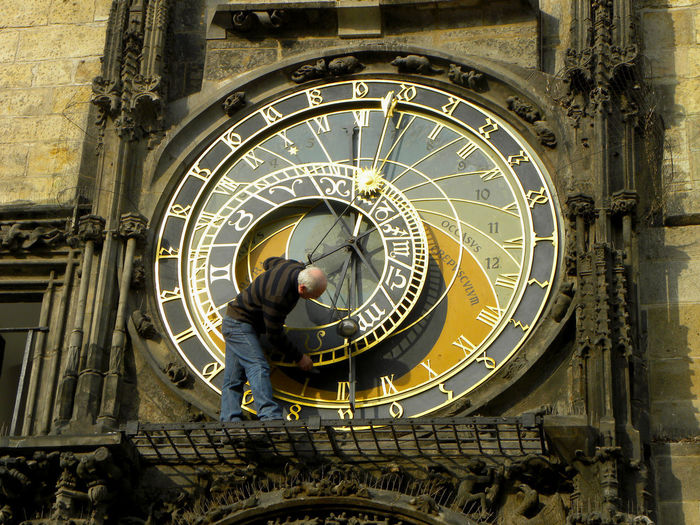 Craftsman Small Business Heroes Adult Architecture Building Exterior Built Structure City Clock Complexity Craftsman Working Day History Master Watchmaker Men Metal One Person Real People Skill  Standing Technology The Past Time Travel Destinations