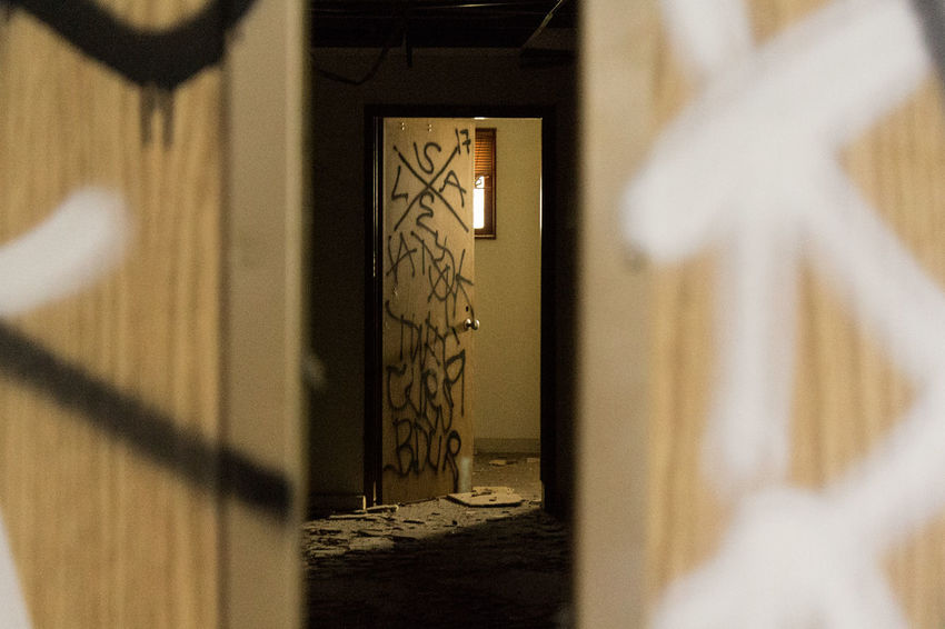 Abandoned Places Decay Destruction Graffiti Hallway Natural Light Room Abandoned Architecture Broken Building Built Structure Creepy Curiosity Damaged Door Doorway Eerie Haunted No People Opening Scary